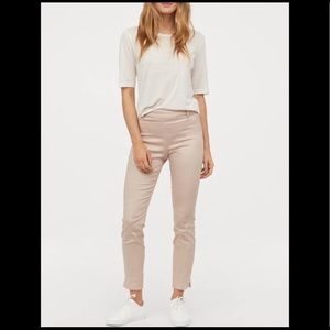 NWT H&M Cream Colored Stretch Ankle Pants Slacks
